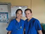 Cheryl and Imogen_Glasgow University_July 2013